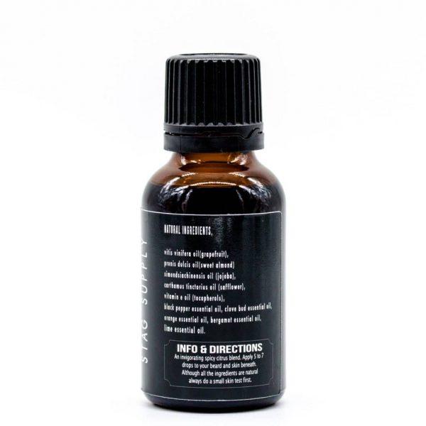 beard oil spice back