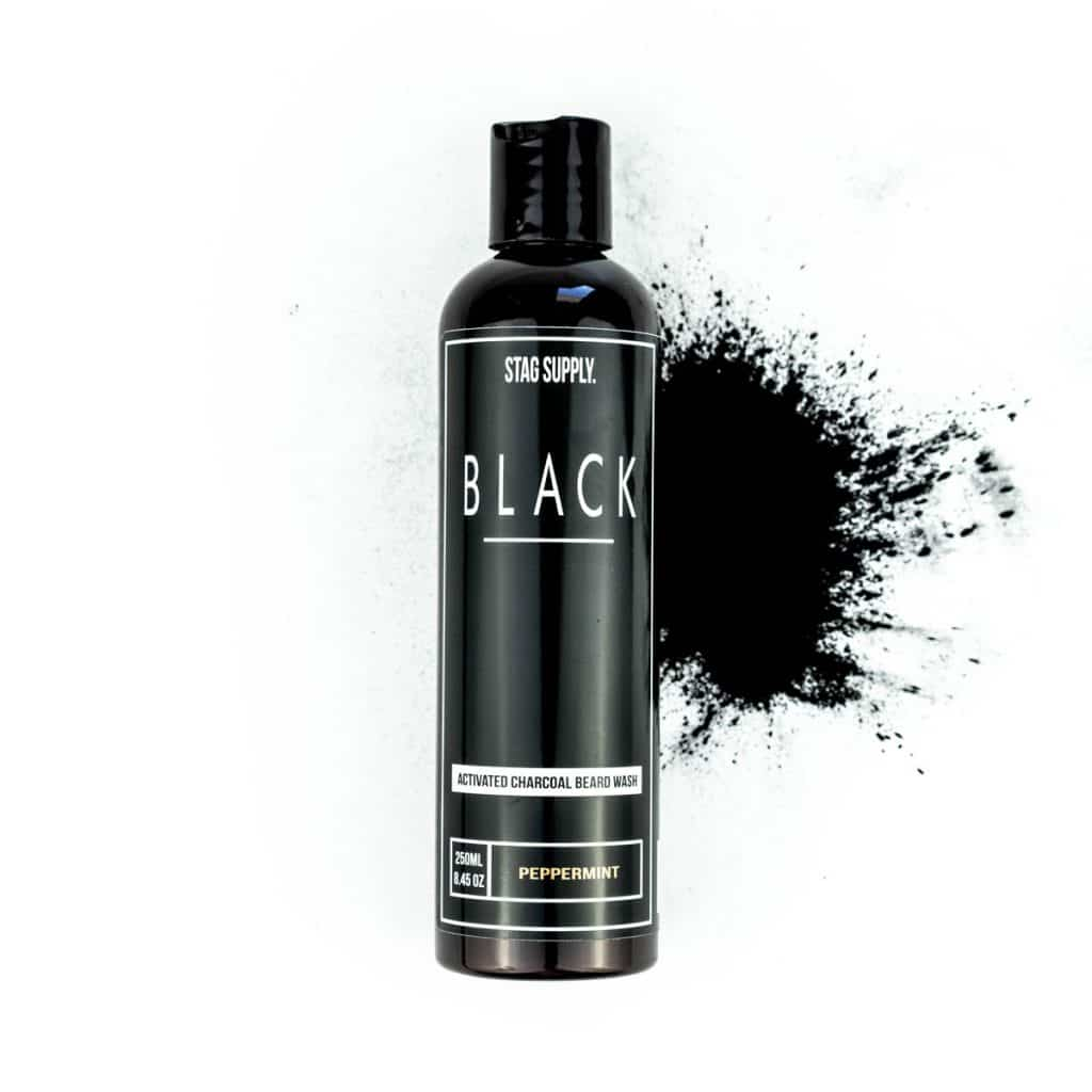 BLACK Activated Charcoal Beard Wash 250ml